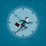 VektorGeschäftsmann wettbewerbsfähig mit Geschäftszeit Lizenzfreies Stockfoto