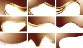 Vektorgesetzte Schokoladenhintergründe Stockfoto