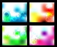 Vektorgesetzter abstrakter Hintergrund Lizenzfreie Stockfotografie