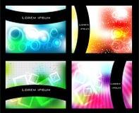 Vektorgesetzter abstrakter Hintergrund Lizenzfreie Stockbilder