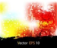 Vektorgesetzter abstrakter Hintergrund Stockfotografie