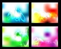 Vektorgesetzter abstrakter Hintergrund Lizenzfreies Stockbild