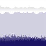 Vektorgestaltungselemente - Gras und Wolken Stockfoto