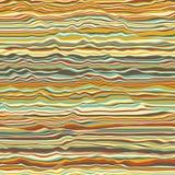 Vektorgestreifter Hintergrund Abstrakte Farbenwellen Schallwelleoszillation Flippige gekräuselte Linien Elegante gewellte Beschaf Lizenzfreies Stockfoto