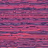 Vektorgestreifter Hintergrund Abstrakte Farbenwellen Schallwelleoszillation Flippige gekräuselte Linien Elegante gewellte Beschaf Lizenzfreie Stockfotos