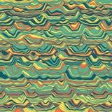 Vektorgestreifter Hintergrund Abstrakte Farbenwellen Schallwelleoszillation Flippige gekräuselte Linien Elegante gewellte Beschaf Lizenzfreie Stockbilder