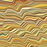 Vektorgestreifter Hintergrund Abstrakte Farbenwellen Schallwelleoszillation Flippige gekräuselte Linien Elegante gewellte Beschaf Stockfotos
