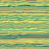 Vektorgestreifter Hintergrund Abstrakte Farbenwellen Schallwelleoszillation Flippige gekräuselte Linien Elegante gewellte Beschaf Stockbilder