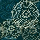 Vektorgewebe des nahtlosen Musters des Kreises endloses Stockbilder