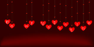 Vektorgirlande für Valentinstag vektor abbildung