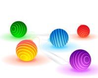 Vektorglödljus stock illustrationer