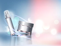 Vektorglasgefäß auf bokeh Hintergrund Element für modernes Design, lizenzfreie abbildung