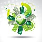 Vektorgrüne Erde lizenzfreie abbildung