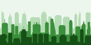 Vektorgrüne Stadt stockbild