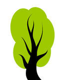 Vektorgrüner Baum Lizenzfreie Stockbilder