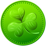 Vektorgrüner Klee. Symbol von St Patrick Tag Lizenzfreies Stockbild