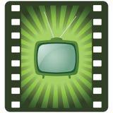 Vektorgrüner Retro- Fernsehapparat Vektor Abbildung