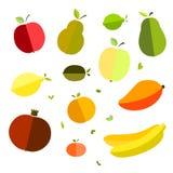 Vektorgrafik-Weltgesundheits-Tag auf strukturierten Hintergrundgläsern für Saft, Saft, Stroh, Frucht, Apfel, Banane, Birne, Manda lizenzfreie abbildung