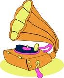 Vektorgrammophonmusik Stockbilder
