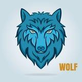 Vektorgraphik des Wolfs, Design für Logoausweis, Abziehbild, usw. lizenzfreie abbildung
