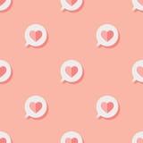 Vektorgraphik - nahtloses Muster mit Herzen Lizenzfreies Stockbild