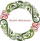 Vektorgraphik-Rollefeiertag Wreath. Lizenzfreie Stockfotografie