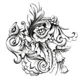 Vektorgraphikblumenstrauß, eigenhändig gemalt vektor abbildung