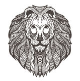 Vektorgraphikillustration des Kopfes eines Löwes stock abbildung
