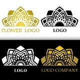 Vektorgraphikstilisiertes Blumensymbol abstrakte Blume für Logo Lizenzfreie Stockbilder