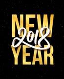 Vektorgruß-Kartendesign des guten Rutsch ins Neue Jahr 2018 Stockfotografie