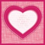Vektorgrußkarte Valentinsgruß-Tag Lizenzfreies Stockbild