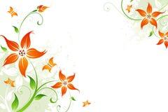 Vektorgrunge Blumenhintergrund Stockbilder