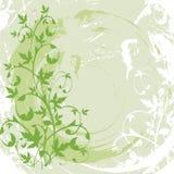 Vektorgrunge Blumenhintergrund Lizenzfreie Stockfotografie