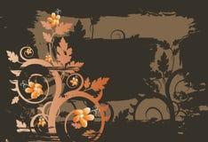 Vektorgrunge Blumenhintergrund Stockfotografie