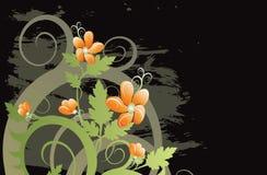 Vektorgrunge Blumenhintergrund Lizenzfreies Stockbild