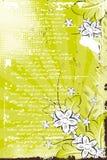 Vektorgrunge Blumenhintergrund Lizenzfreie Stockbilder