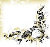 Vektorgrunge dekorative Fahne Stockfoto