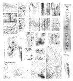 VektorGrunge Testblätter Stockfotografie