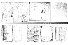 Vektorgrunge Testblätter Lizenzfreie Stockbilder
