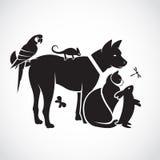 Vektorgrupp av husdjur Royaltyfri Bild