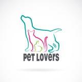 Vektorgrupp av husdjur stock illustrationer