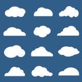 Vektorgrupp av moln Fotografering för Bildbyråer