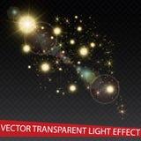 Vektorguld blänker partikelbakgrundseffekt för lyxigt hälsningrichkort Mousserande textur Gnistor för stjärnadamm in Arkivfoto