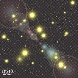 Vektorguld blänker partikelbakgrundseffekt för lyxigt hälsningrichkort Mousserande textur Gnistor för stjärnadamm in Arkivbilder