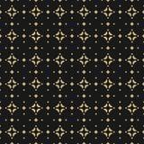 Vektorguld och svartbakgrund Lyxig design för garnering, textil, tyg, räkningar royaltyfri illustrationer