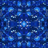 VektorGzhel blom- sömlös modell för bakgrund eller vykort royaltyfri illustrationer