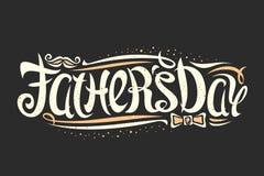 Vektorhälsningkort för dag för fader` s royaltyfri illustrationer
