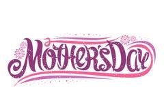 Vektorhälsningkort för dag för moder` s royaltyfri illustrationer