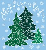 Vektorhälsningkort för jultiden stock illustrationer