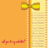 Vektorhälsningkort för Sankt dag för valentin` s stock illustrationer